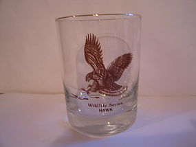 Wildlife Series Hawk Glass