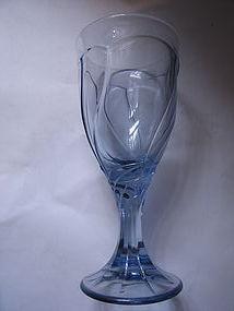 Noritake Blue Sweet Swirl Goblet