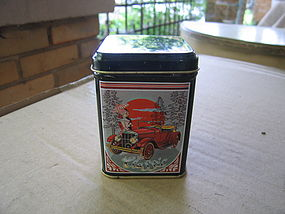 "Wicks ""N Tins Antique Car Candle Tin"