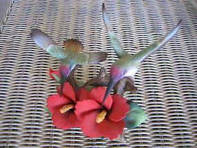 Holsted House Captivating Hummingbirds Figurine