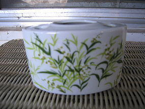 Lefton Green Leaves Toothbrush Holder