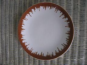 Sterling Lamberton Brown Rim Plate