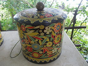 Tin Flower Power Canister
