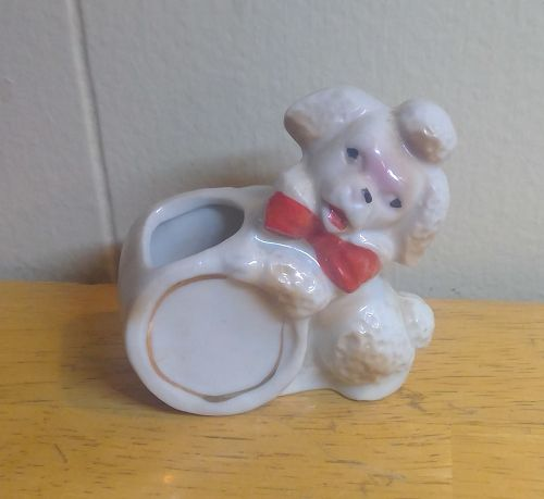 Poodle and Ball Toothpick Holder