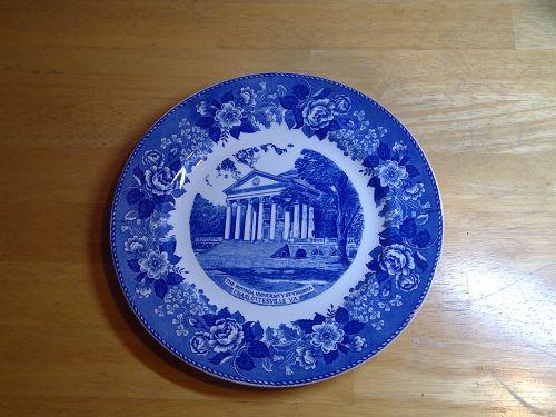 The Rotunda Univerity of Virginia Plate