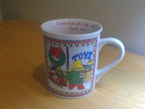 Ensesco Paddington Bear Christmas Mug