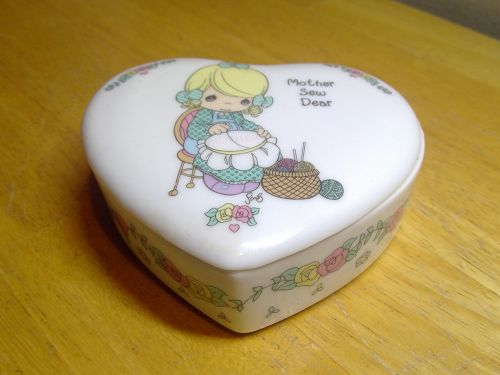 Enesco Precious Moments Mother Sew Dear Box