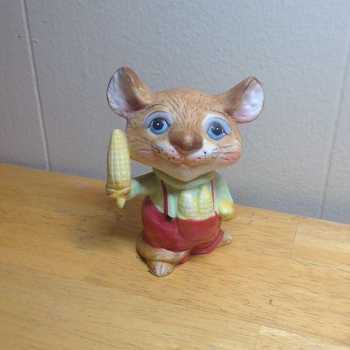 Enesco Mouse and Corn Figurine