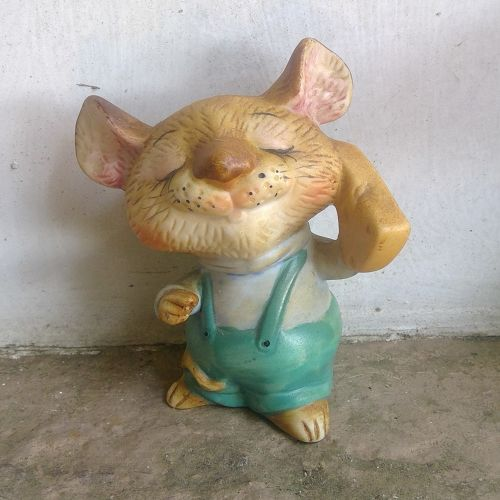 Enesco Mouse Cheese Figurine