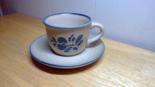 Pfaltzgraff Folk Art Cup and Saucer