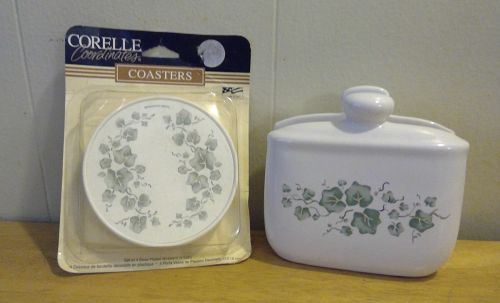Corelle Callaway Napkin Holder and Coasters