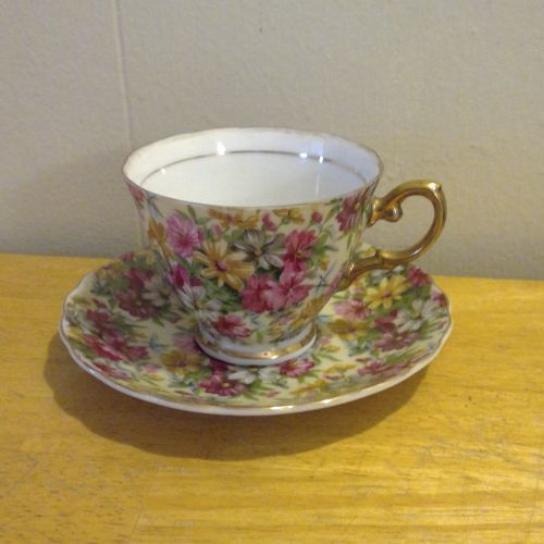 Sterling China Daisy Teacup & Saucer