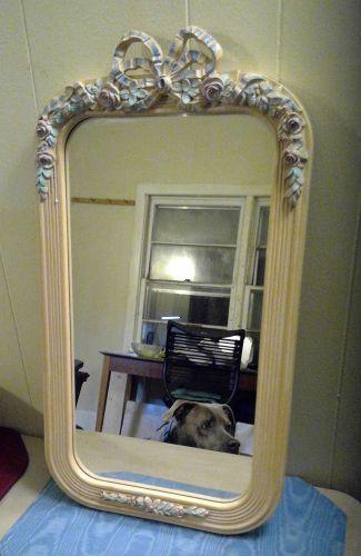 Vintage Pink Blue Mirror