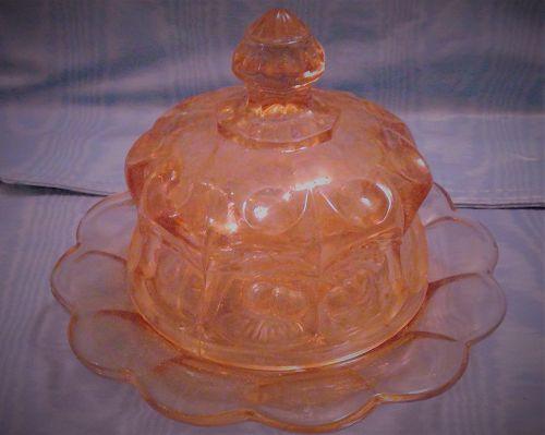 Mosser Cherry Thumbprint  Butter Dish Underplate