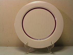 Homer Laughlin Seville Plate (Red/Maroon Band)