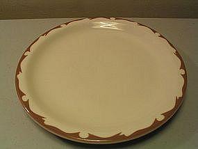 Buffalo China Beige Crest Plate