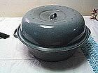 Gray Enamel Roasting Pan