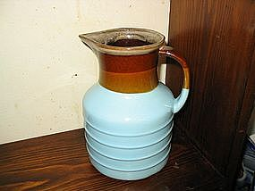 Blue Pottery Pitcher