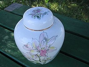 Iris Temple Jar