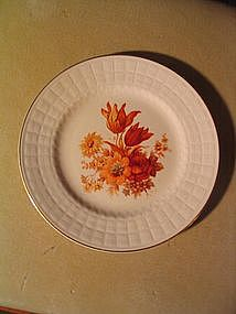 Knowles Orange Flowers Plate