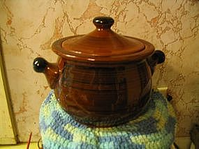 Redware Bean Pot