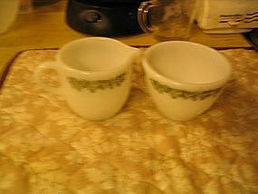 Corelle Crazy Daisy Sugar and Creamer