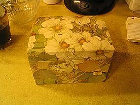 Vintage Floral Recipe Box