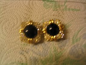 Joan Rivers Onyx Earrings
