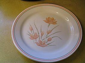 Corelle Peach Floral Dinner Plate