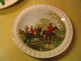 Herring Hunt Scene Plate