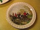 Herring Hunt Scene Plate