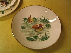 Y. T. Japanese Porcelain Bowl Duck or Waterfowl