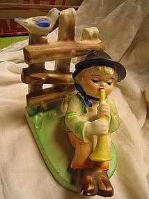 Boy and Horn Figurine