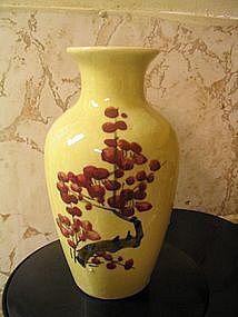 Yellow Oriental Vase