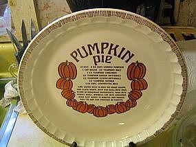 Royal China Pumpkin Pie Pan