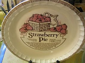 Royal China Strawberry Pie Pan