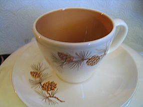 Harmony House Mocha Pine Cup & Saucer