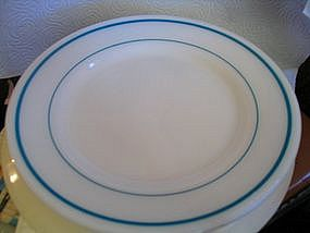 Pyrex Turquoise Band Plate