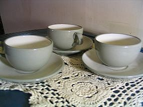 Harker White Cap Cup & Saucer