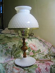 Vintage Milk Glass Lamp