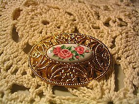 Avon Rose Pin