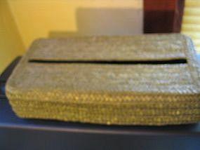 Rattan Tissue Box