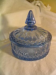 Indiana Glass Blue Princess Candy Box