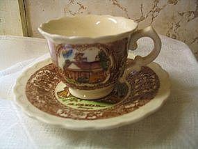 Vernon Kilns Miniature Cup Saucer