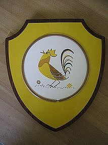 Vintage Rooster Utensil Holder