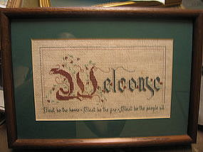 Needlepoint Welcome Sampler