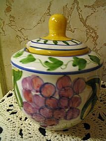 Ganz Bella Casa Fruit Sugar Bowl  SOLD