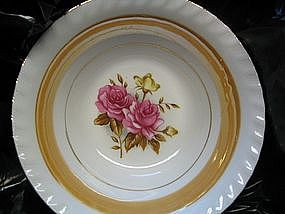 Rose Lusterware Bowl