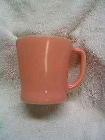 Fire King Pink D-Handle Mug