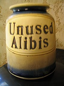 Brophy Unused Alibis Jar  SOLD